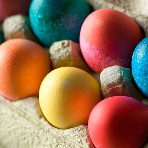 Coloured Easter eggs to make