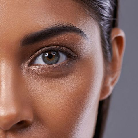 Model's eye close up