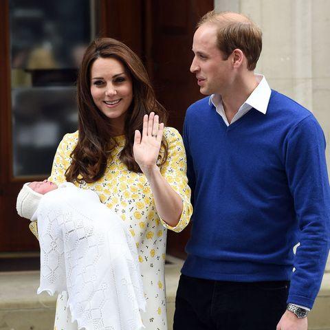 Princess Charlotte Elizabeth Diana and parents