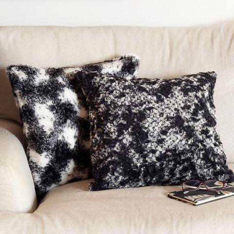 Homemade fur cushions