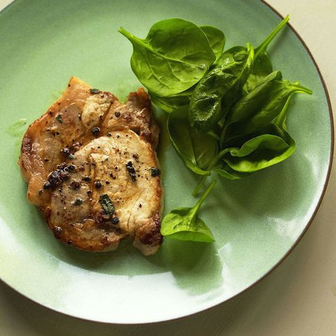 Pork loin steaks with sage