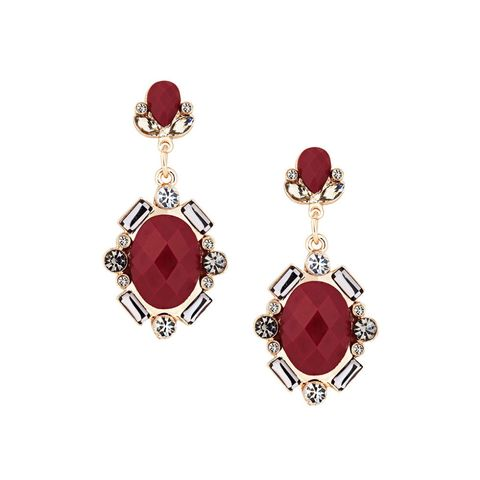 Debenhams Betty Jackson Black red stone earrings