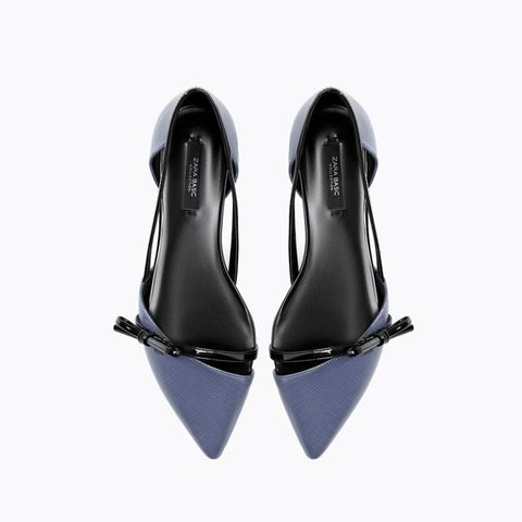 Zara flat shoes with bow