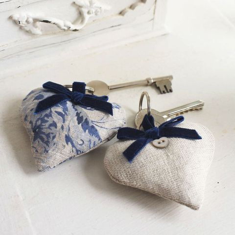 heart keyrings to sew
