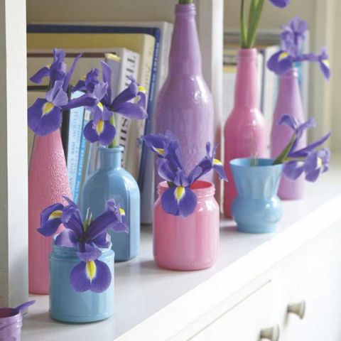 Upcycle Old Bottles And Jars Into Colourful Glass Vases