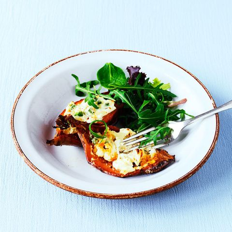 Stuffed Sweet Potatoes With Cream Cheese And Chilli Powder