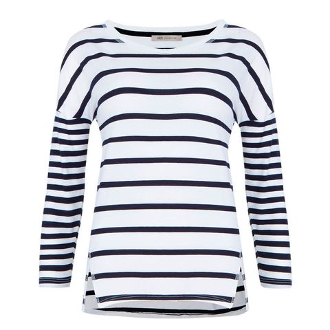 M&S boxy striped t shirt top