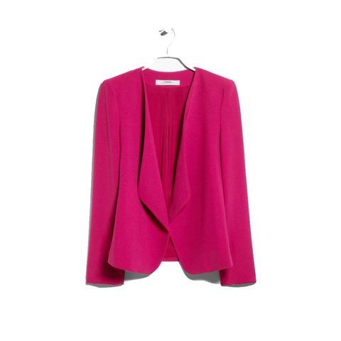 Mango hot pink waterfall jacket