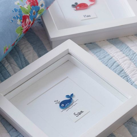 Quilling personalised childrens whale picture