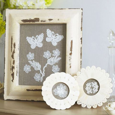 Picture to make with lace scraps