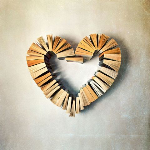Books in a heart shape