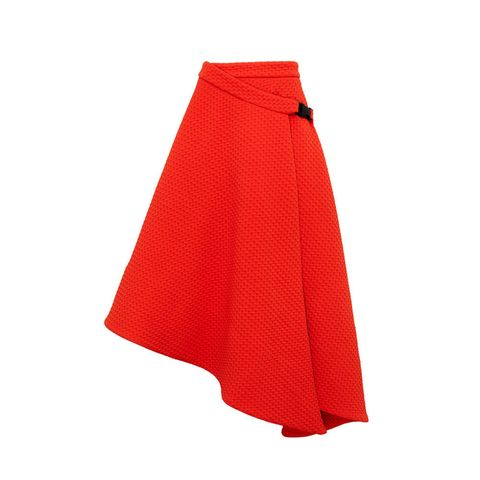 Marks and Spencer Limited London red asymmetric skirt