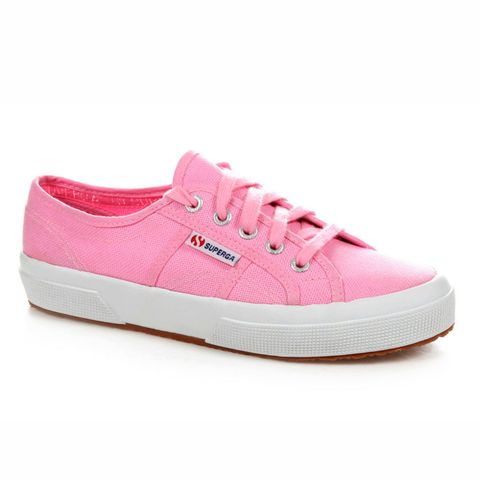 Superga pink trainers