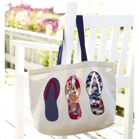 Flipflop beach bag to sew