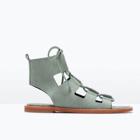 Zara suede leather roman sandals