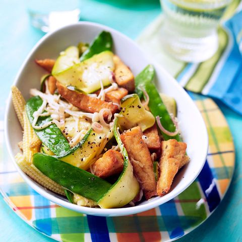 Vegetable and tofu stir fry