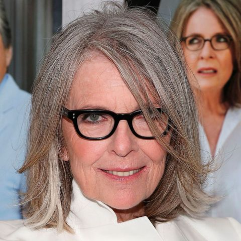 Diane Keaton grey hair