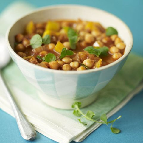 Moroccan Squash and Chickpea Soup