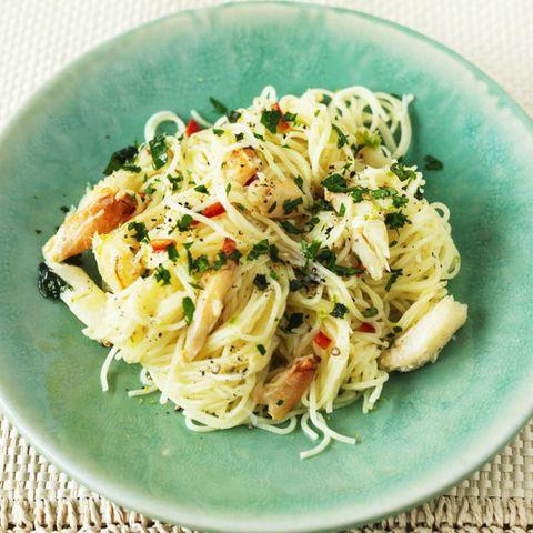 Crab chilli pasta