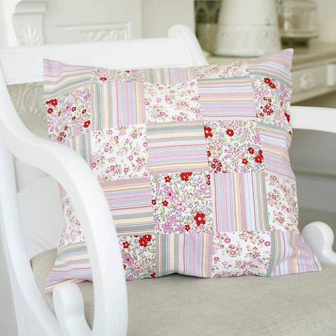 Upcycle Old Clothes By Sewing A Patchwork Cushion