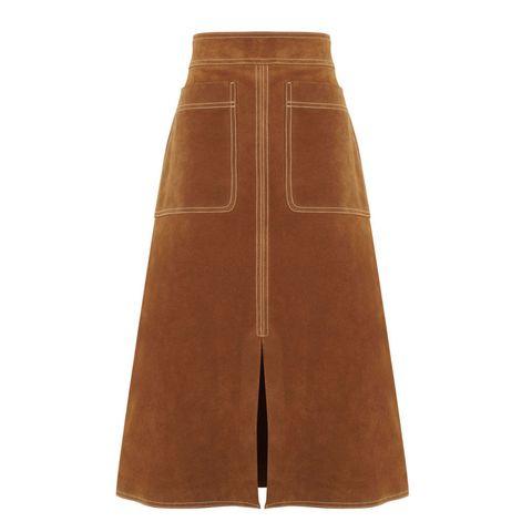 M&S Autograph suede A line skirt