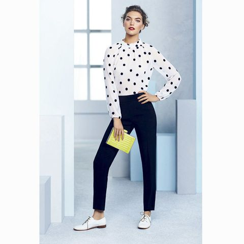 Coast spring summer 2015 polka dot blouse and black trousers