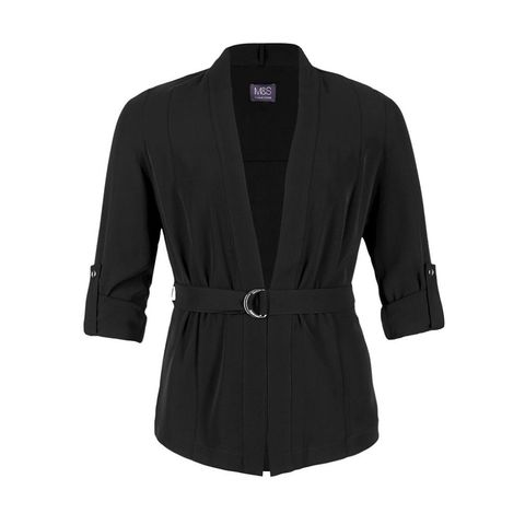M&S Collection pleated jacket with belt