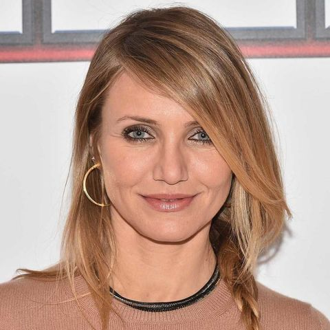 Cameron Diaz with hairstyle for thin hair