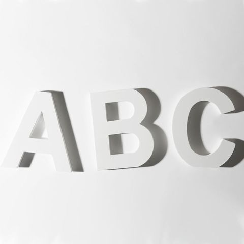 Get personal with our free alphabet template white abc letters spiritdancerdesigns Choice Image