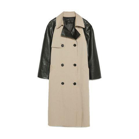 Zara raincoat with contrast sleeves
