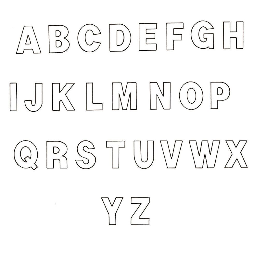 Get Personal With Our Free Alphabet Template