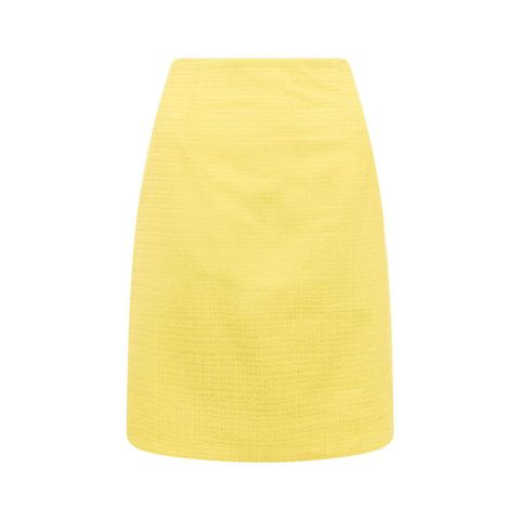 Hobbs lemon yellow Michelle skirt