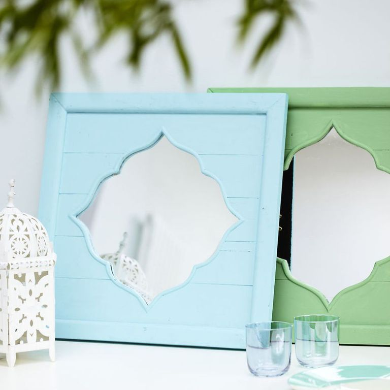 Brighten Up A Room With Painted Mirror Frames