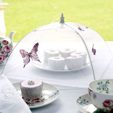 Food cover decorated with butterflies