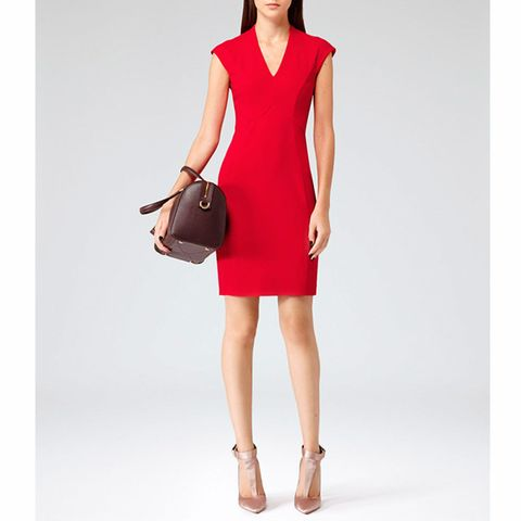 Reiss Sinara panelled shift dress