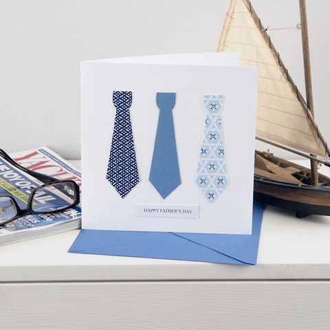 Ties-design Father's Day card to make