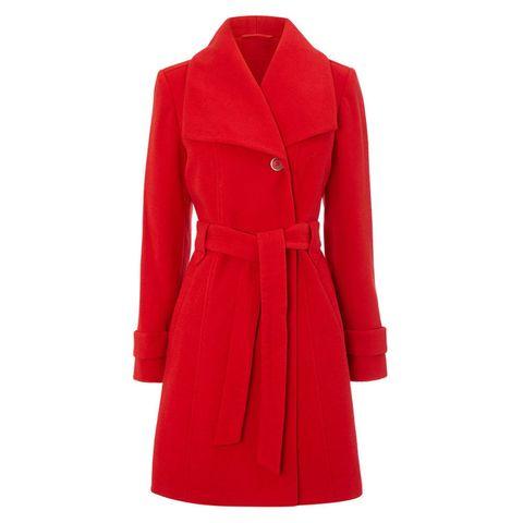 Fit & flare belted coat £60
