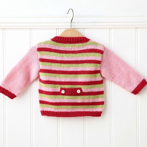 DIY gifts: How to knit a baby cardigan