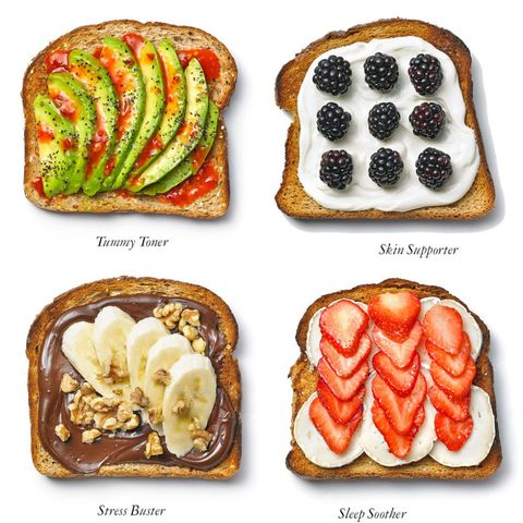 Healthy toast snacks