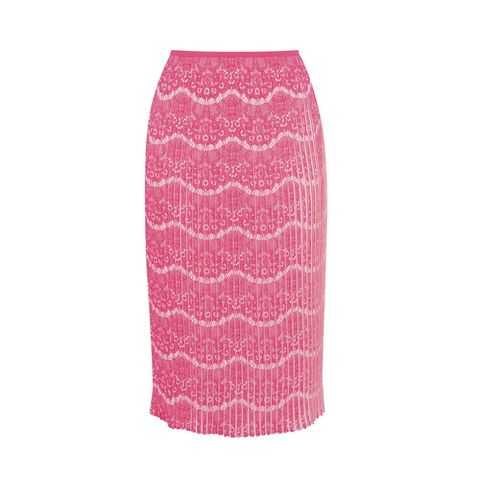 Karen Millen printed pleat skirt