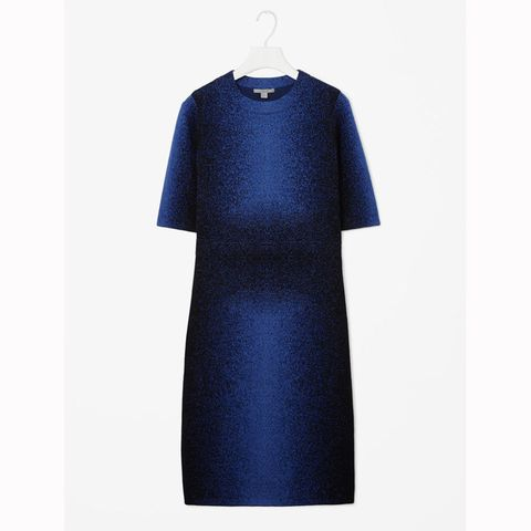 Cos wool jacquard dress