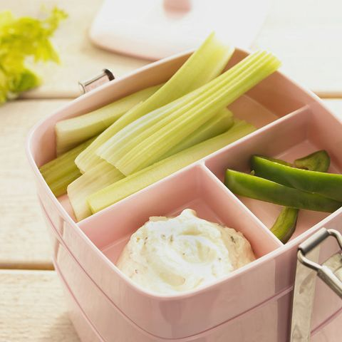 Celery, peppers and dip