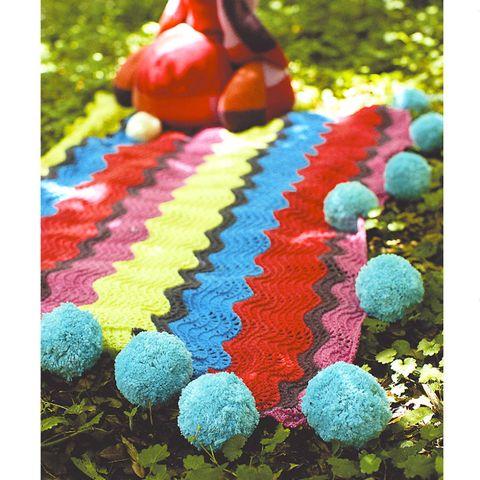 Pompom blanket to knit