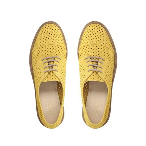 Clarks Griffin Maddy bright yellow brogues