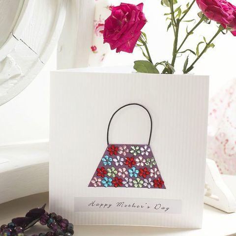 Handbag Mother's Day card to make