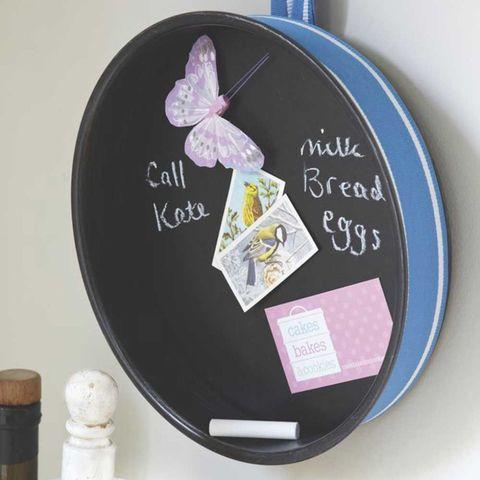 Kitchen pin board