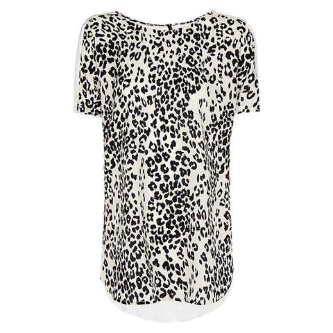 Mango leopard print top