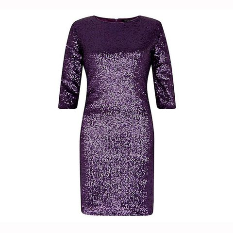New Look purple sequin bodycon dress