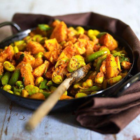 Butternut squash and bean curry