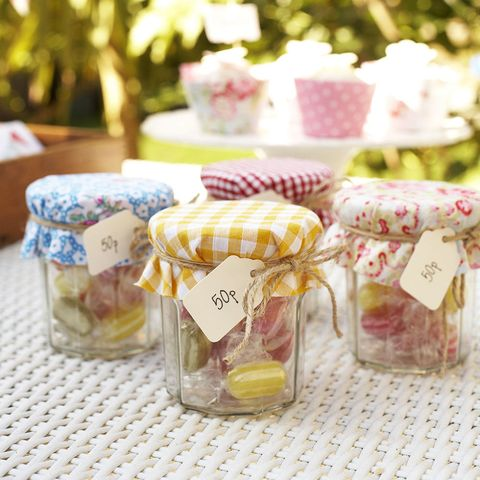 Jam Jars Filled With Sweets